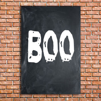 Boo Halloween sign Printable Halloween sign Digital file Spooky Art Print BOO sign Printable Wall decor Holiday decor INSTANT DOWNLOAD