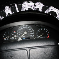 Eiffel tower paris black and white steering wheel cover