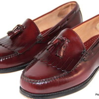 G H BASS & CO Weejuns Loafers Slip on Burgundy Tassel Mens Size 12 (5E)