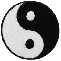 Yin Yang Embroidered Patch Iron-On Chinese Taoism Symbol