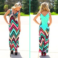 Bow Down To Me Chevron Maxi