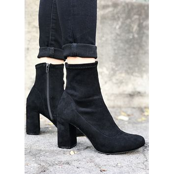 Easy Ankle Black Bootie