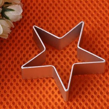 Star Shaped Aluminium Mold Sugarcraft Biscuit Cookie Cake Pastry Baking Cutter Mould Tool pastry tools baking tools for cakes