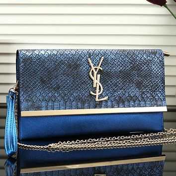 YSL Women Fashion Leather Chain Crossbody Shoulder Bag Handbag Satchel