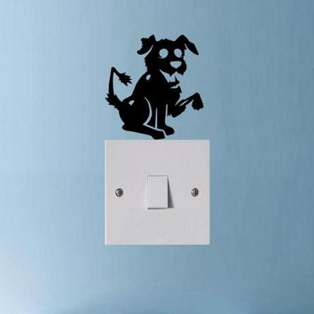 Removable Waterproof Vinyl Zombie Dog Animal Switch Sticker Decor Wall Decal 3SS0301