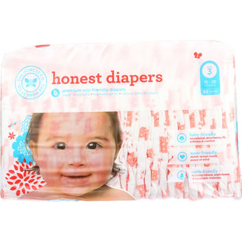 The Honest Company Diapers - Giraffes - Size 3 - Babies 16 to 28 lbs - 34 count - 1 each