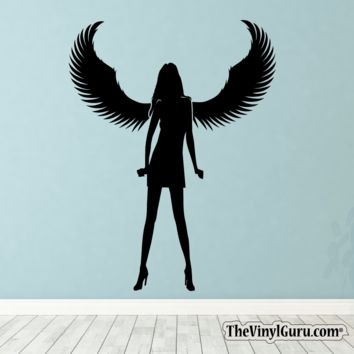 Sexy Angel Pin-Up Girl Wall Decal III