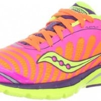 Saucony Women's Kinvara 3 Running Shoe,Pink/Purple/Citron,9 M US