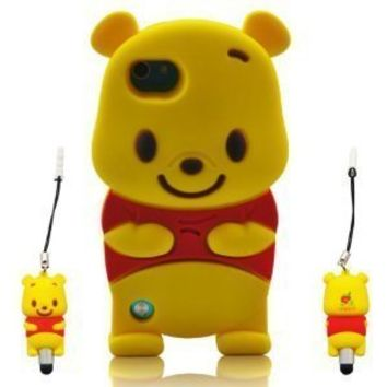 I Need Winnie the Pooh 3d Ipod Touch 5 Soft Silicone Case Cover Faceplate Protector for I Touch 5g 5th Generation with 3D Winnie The Pooh Stylus Pen