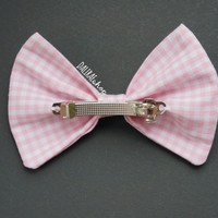 Pink Checkered Bow