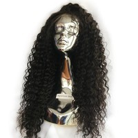 250% Curly Lace Front Human Hair Wigs For Women Brazilian Black Hair Full Density 13*4 Lace Frontal Wig Pre Plucked Remy Hair