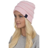 Cable Knit Beanie in Pink by Lauren James - FINAL SALE