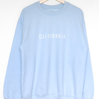 California Oversized Sweatshirt - Light Blue