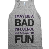 Bad Influence (tank)-Unisex Athletic Grey Tank