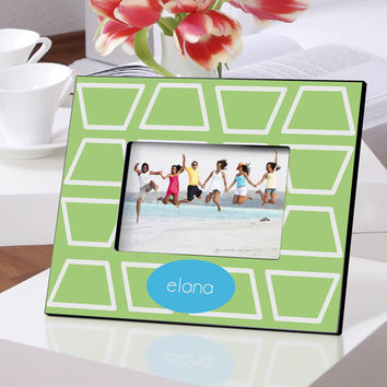 Personalized Color Bright Frames - Geo-Lime