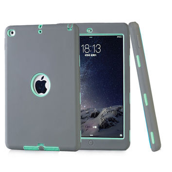 Coque Case for iPad Air 2 Durable Heavy Duty 3 in 1 Hybrid Rugged Case Shockproof Cover Capa for iPad Air 2 iPad 6 Case+Stylus