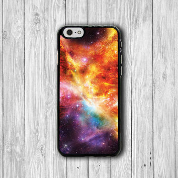 Red Galaxy Nebula Space iPhone Cases, Hipster iPhone 6 Cover, iPhone 6 Plus, iPhone 5 Hard Case, Soft Silicon, Plastic Accessory Woman Gift
