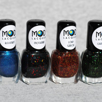 Cryptid Collection I 2013 - 4 Bottle Set Nail Polish Minis 4ml (Revenant, Mothman, Loup Garou, Chupacabra)