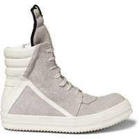Rick Owens - Panelled Suede High Top Sneakers | MR PORTER