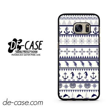 Anchor In Aztec Art DEAL-751 Samsung Phonecase Cover For Samsung Galaxy S7 / S7 Edge