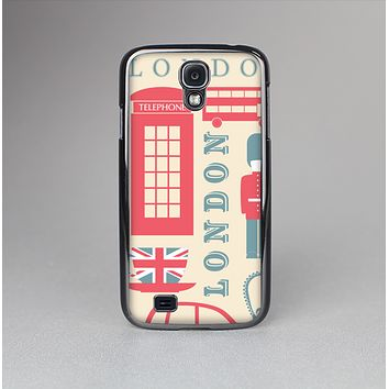 The Vector London Time Red Skin-Sert Case for the Samsung Galaxy S4