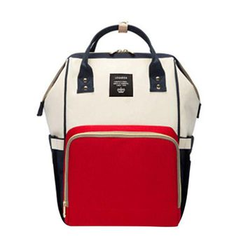 LeQueen Color Block Diaper Backpack
