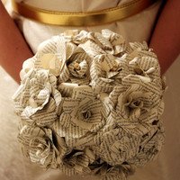 Paper Wedding bouquet, Alternative bouquet, Book page bouquet, Bridal bouquet, Wedding bouquet, Weddings, Paper flowers