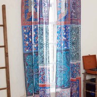Plum & Bow Patched Scarves Curtain-