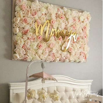 """30"""" Gold Mirror Large Personalized Name Sign"""