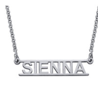 Open Bar Name Necklace