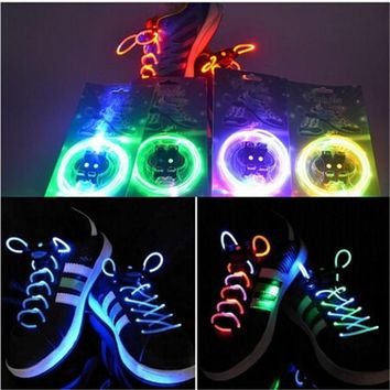 TrendyQueen-Boys Girls Kids Light Up LED Shoelaces Flash Party Disco Shoe Laces Shoe S