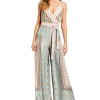 Free People Cabbage Rose Sleeveless Jumpsuit | Dillards