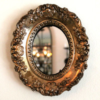 vintage ornate gilded wall mirror