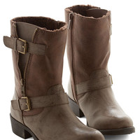 ModCloth Stride Open Spaces Boot in Taupe