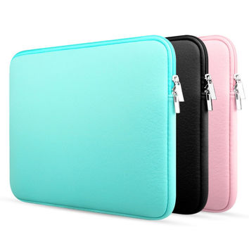 "New Zipper Laptop Sleeve Case For Macbook Laptop AIR PRO Retina 11"" 12"" 13"" 14"" 15"" 15.6 inch Notebook Bag"
