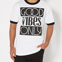 Good Vibes Only Ringer Tee