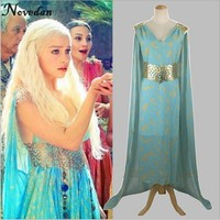 Daenerys Targaryen Game of Thrones Dress A Song of Ice and Fire Mother of Dragons Cospaly Halloween Costumes For Women