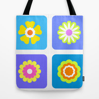 Colorful flowers Tote Bag by cycreation