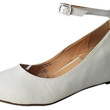 Chase amp Chloe Womens Strappy Mary Jane Wedge Platform Pump