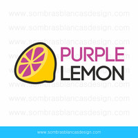 OOAK Premade Logo Design - Purple Lemon - Perfect for an urban clothing shop or a handmade speakers brand