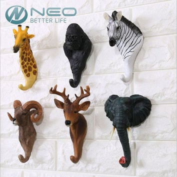 Wall Hanger Statue Animal Shaped Coat Hat Hook Hanging Rack Home Decor