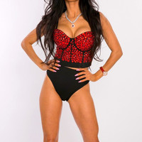 Red-black shades ultimate Corset