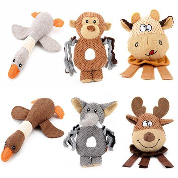 Lovely Dog Chew Toy Pet Dog Sound Toys Solid Resistance To Bite Playable Funny Pet Toy