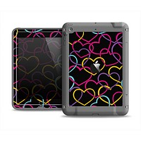The Colorful Vector Hearts Apple iPad Mini LifeProof Fre Case Skin Set