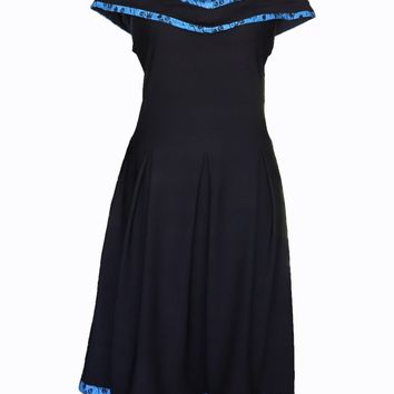 African Black Summer Dress
