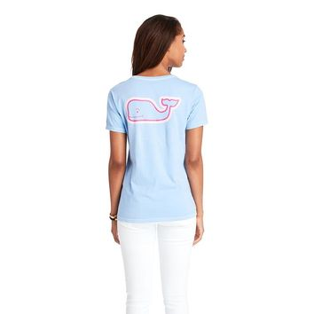 Women's Radiant Whale Pocket Tee by Vineyard Vines