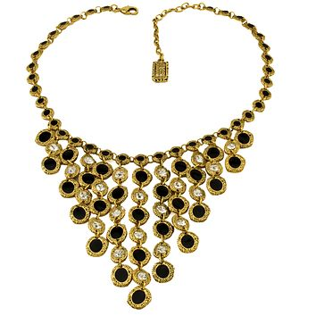 Crystal Bib Waterfall Necklace