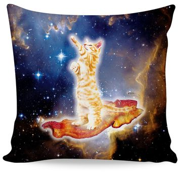 Bacon Cat Couch Pillow