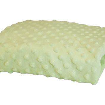 Rumble Tuff Kit Minky Dot Contour Compact Mint Green Changing Pad Cover
