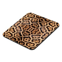 Jaguar Fur Photo Print Beverage Coasters